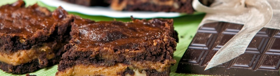Kajmakowe brownies